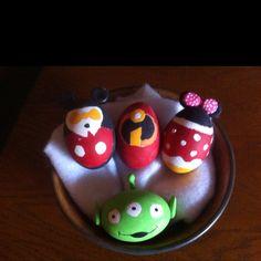 Ceramic Easter eggs! Disney style ;)