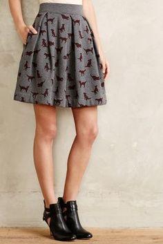 Orla Kiely Puppy Love Sweatshirt #Skirt #anthrofave #anthropologie
