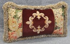 Embroidered Pillow Made w Ralph Lauren Desert Plains Floral Velvet Fabric | eBay