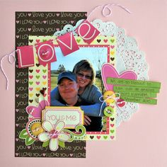 love layout by aphra dee. pebbles twitterpated collection.