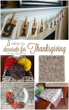 5 ideas to decorate for Thanksgiving Tile Flooring, Flooring Ideas, Family Fun Night, 10 Year Anniversary, How To Clean Carpet, Creative Home, Thanksgiving Decorations, Fun Ideas, Highlights