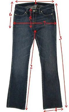 Measuring Guidelines: Tag size and measured size may be different, so please take only measured size into consideration before you bid or purchase a pair ofJeans/Pants. Even if you normally wear a certain...