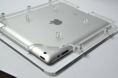 New iPad Acrylic Enclosure, made of 8 mm acrylic material, old ones was 5 mm Tablet Mount, Acrylic Material, Old Ones, New Ipad