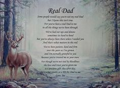 """""""Real Dad"""" Personalized Step Dad Poem Birthday Father's Day or Christmas Gift 