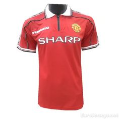 2dd31a307 Eurojerseys.net maillot de foot Manchester United 98-99 Home Retro Shirt  Soccer Jerseys