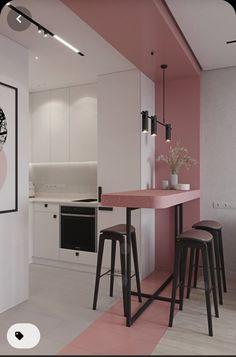 Kitchen Room Design, Home Room Design, Home Decor Kitchen, Kitchen Interior, Home Interior Design, House Design, Ikea Interior, Small Apartment Kitchen, Small Apartment Design