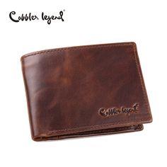 Cobbler Legend Berühmte Marke Echtes Leder Männer Brieftaschen Handmade männer Brieftasche Männlichen Geldbörsen Brieftasche Münzen Mit ID Karte halter