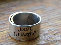 just breathe 3/8 aluminum wrapped ring