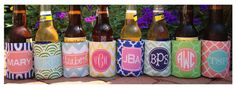 Haymarket Designs: Personalized Koozies (as well as everything else on this pretty website! gifts galore!)