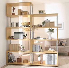 Illustration of Feeling Great with Unique Freestanding Bookshelves in the Interior