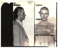 David Bowie mug shot.