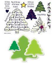 Stamp Set 420 - Nesties Christmas Trees Spellbinders Combo Set