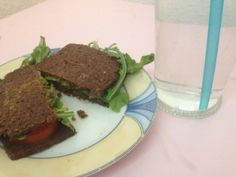 Clean Eating Pumpernickel Sandwich