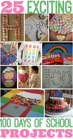 Inspiration: 25 Best 100 Days of School Project Ideas #100daysofschool 100 Day Project Ideas, 100 Day Of School Project, 100th Day Of School Crafts, School Projects, Diy Projects, School Holidays, School Days, School Fun, Kindergarten Projects