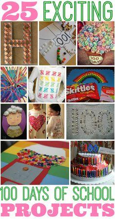 Inspiration: 25 Best 100 Days of School Project Ideas #100daysofschool