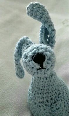 Crochet handmade bunny which turned into a doggy.