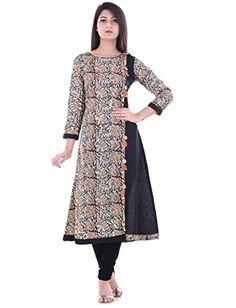 Yash Gallery Traditional Kalamkari Print Women's Anarkali Kurta: Amazon.in: Clothing & Accessories