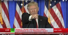 "VIDEO: BOOM! Donald Trump handles CNN like a boss when their reporter demands to ask a question. ""I'm not going to give you a question. You are fake news!"" 1/11/17"
