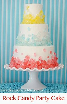 Rock Candy Cake...love this maybe some different colors for the baby shower