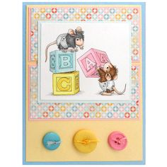 house mouse baby block card ideas - Google Search