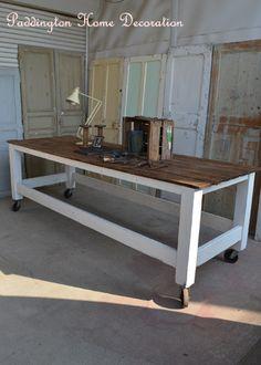 フランスパインテーブル、アンティークテーブル、ギャザリングテーブル、アンティークパイン、ペイントテーブル、ワークテーブル、キッチンテーブル、店舗什器、アンティーク家具