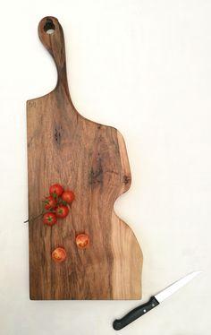 Italian walnut wood serving board