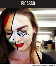 Funny pictures about Picasso Halloween makeup. Oh, and cool pics about Picasso Halloween makeup. Also, Picasso Halloween makeup. Cool Halloween Makeup, Halloween Kostüm, Halloween Costumes, American Gothic, Art Costume, Costume Makeup, Costume Ideas, Makeup Humor, Funny Makeup