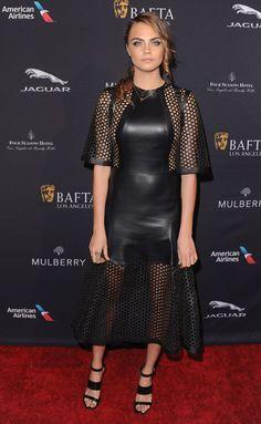 Cara Delevingne arrives at the 2015 BAFTA Tea Party. via @stylelist | http://aol.it/1xkUS6C