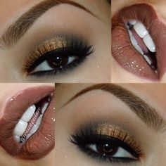 Using all Motives Cosmetic shadows & NYX cosmetics for the lips topped with Buxom gloss