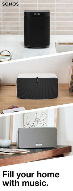 No matter how large your room, Sonos fills the space with pure, brilliant sound. Fill your home with music today. Condo Living, Apartment Living, Living Rooms, Apartment Checklist, Apartment Ideas, Sonos Play 1, Gadgets And Gizmos, Home Entertainment, Rustic Design
