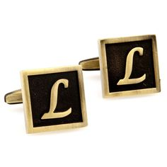Santimon - Capital Letter Black Brass Electroplate White Steel 26 English Alphabet Letters Cuff Links Cufflinks With Gift Box 167774-L. product name:men cuff cufflinks. product material:brass, high quality electroplate white steel. Microfiber polishing cloth included with set. Features a swivel post for easy application. Great for dress shirts, collard blouses, or tuxedo shirts! We make your french cuffs look good!.