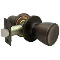 "Tubular Passage Knob Set, Venetian Bronze by Mintcraft. $21.70. For hall and closet doors, all interior doors where a simple latch is all that is required. Both knobs always free; no locking mechanism. All metal components. Solid steel latch assembly. Seamless one-piece knob for extra strength. Easy installation. Square spindle for right or left handed installations. 6-way adjustable latch fits 2-3/8"" to 2-3/4"" square corner, radius corner, or drive-in applications; includes b..."