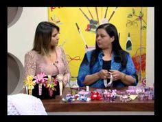 Mulher.com 07/08/2012 Valeria Soares - Arquinho Trançado Com fitas 01