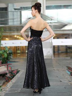 Sexy Strapless Ruched Waist Animal Print Dress