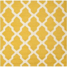 Safavieh Handmade Moroccan Cambridge Gold/ Ivory Wool Area Rug ($126) ❤ liked on Polyvore featuring home, rugs, gold, safavieh rugs, moroccan rug, geometric pattern rugs, handmade rugs and trellis rug