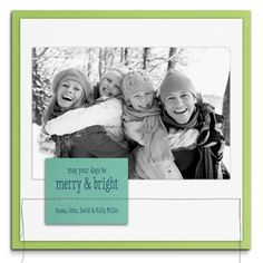 contemporary sewn Holiday photo card
