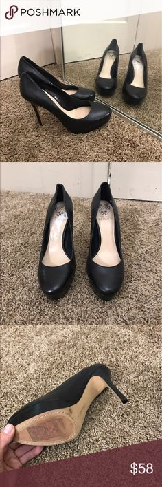 Vince camuto black pumps Virtually new Vince Camuto Shoes