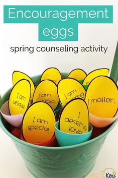 Grab some plastic eggs and you've got tons of spring counseling activities! Your students will love these activities and lessons that are perfect for small groups individuals or classroom guidance. Elementary School Counseling, School Social Work, Counseling Activities, Art Therapy Activities, Career Counseling, Group Activities, School Counselor, Leadership Activities, Elementary Schools