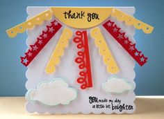 Sunny Thank You Card by Robin Funge