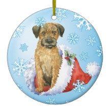 Border Terrier Christmas Tree Decoration Border Terrier