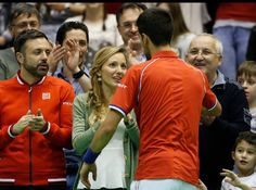Novak join Jelena after his tough win in Davis Cup to lead Serbia 2-2