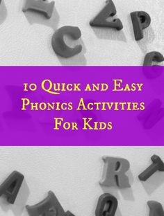 Quick and Easy Phonics Activities - Try these easy phonics activities with your preschooler or kindergartner to reinforce early reading skills in a fun way.