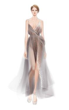 57 Fashion Illustration by adobe illustrator——Donna Karan