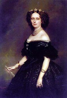 Queen Sophie of the Netherlands.Portrait by Franz Xaver Winterhalter Queen consort of the Netherlands, Grand Duchess of Luxembourg, Duchess of Limburg. She was buried in her wedding dress because she said her life ended the day she got married. Franz Xaver Winterhalter, Nassau, Royal Brides, Royal House, Women In History, European History, Poses, Queen Victoria, Royal Jewels