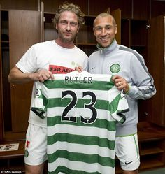 Gerard Butler - Celtic Glasgow (Gerry plays for the hoops in his latest film...Playing For Keeps).