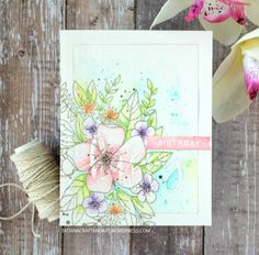 Happy Birthday #handmade card by Tatiana Trafimovich #tatianacraftandart - Hello Lovely Stamp set by Concord & 9th #concordand9th