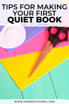 Find out how to make your first quiet book with awesome tips then browse tons of quiet book page ideas and patterns. Don't forget to grab a copy of the free planning guide so that you can make an awesome busy book in no time! Quiet Time Activities, Sensory Activities, Quiet Book Patterns, Felt Quiet Books, Autism Resources, Boredom Busters, Busy Bags, Toddler Books, Social Stories
