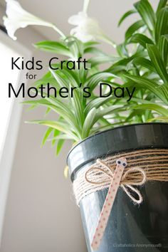 Cute Mother's Day Kids craft idea