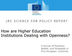 How are Higher Education Institutions Dealing with Openness?