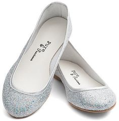 d0e4a2bad31 Ladies Girls Silver Glitter Wedding Bridesmaid Party Ballerina Pump Shoes  Lucy